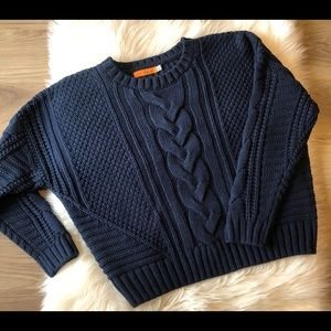 ONE A Navy Chunky Sweater Size Large
